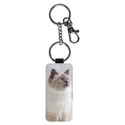 Katt Helig Birma Nyckelring