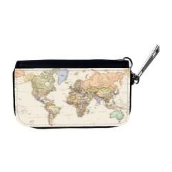Världskarta Bilnyckelfodral
