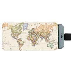 Världskarta Pull-up Mobilväska
