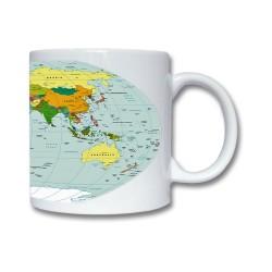 Mugg Med Världskarta