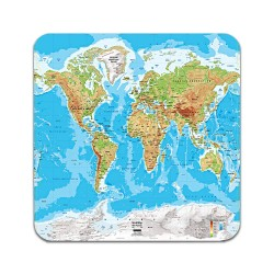 2 ST Världskarta Underlägg