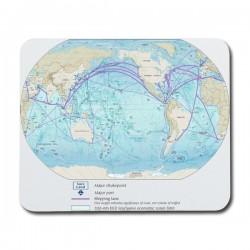 Världens Hav Karta Musmatta