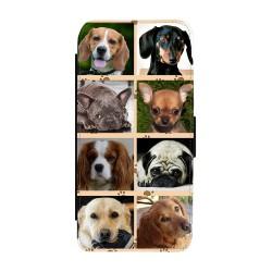 Hundar iPhone 8 Plånboksfodral