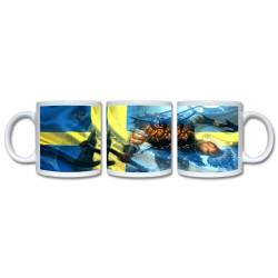Mugg Med Svensk Flagga och...