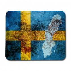 Svensk Flagga & Karta Musmatta