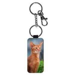 Katt Abessinier Nyckelring